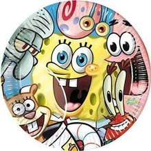 piatto carta spongebob party 23cm