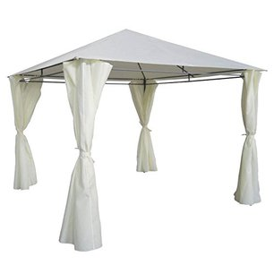 gazebo ecru 3 x 3 con tende laterali