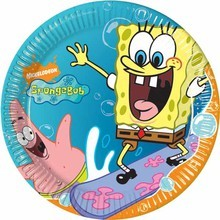 piatto carta spongebob party