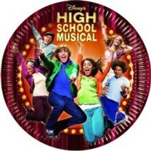 piatto carta hsm - high school musical - party 19.5 cm